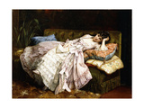 A Reclining Beauty, 1877 Giclee Print by Auguste Toulmouche