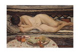 Nude with a Bowl of Fruit Giclee Print by Henri Lebasque