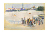 View of the Aussenalster, 1909 Giclee Print by Max Liebermann