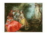 The Four Times of the Day: Midday, C.1739-41 Giclee Print by Nicolas Lancret