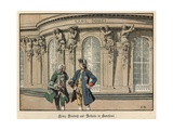 Frederick the Great and Voltaire at Sanssouci Giclee Print by Carl Rochling