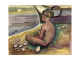 Child with Sea Shells, 1955-60 Giclee Print by Anneliese Everts