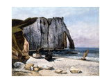 The Cliffs of Etretat, the Port of Avale, 1869 Reproduction procédé giclée par Gustave Courbet
