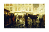 A Paris Street, Evening Giclee Print by Victor Gilsoul