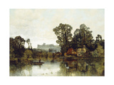 The Thames River with a View onto Windsor Castle Giclee Print by Karl Heffner