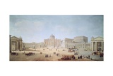 St Peter's Square in Rome Giclee Print by Gaspar van Wittel
