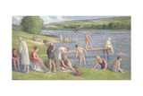 Bathers on the Banks of the Seine Giclee Print by Maximilien Luce