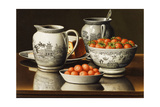 Still Life with Porcelain and Strawberries Giclee Print by Levi Wells Prentice