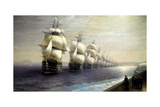 Parade of the Black Sea Fleet in 1849, 1886 Giclee Print by Ivan Konstantinovich Aivazovsky