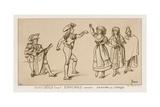 Spanish Dancers at the End of the 18th Century Giclee-trykk av Raphael Jacquemin