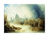 A View of London with St Giclee Print by John Gendall