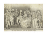 The Royal Family of England in the Year 1787 Giclee Print by Thomas Stothard
