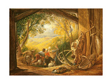 The Shearers, 1833-34 Giclee Print by Samuel Palmer