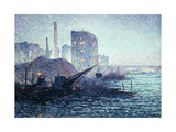 The Thames in London; La Tamise a Londres, C.1893 Giclee Print by Maximilien Luce