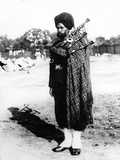 Sikh Regimental Piper, 1900 Photographic Print