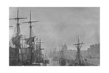 Dublin Docks and the Customs House, 1860S Giclee Print by John Payne Jennings