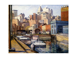 Downtown, 1922 Giclee Print by Samuel Halpert