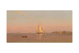 View of Boston Harbour Near Castle Island, 1872 Giclee Print by Francis Augustus Silva