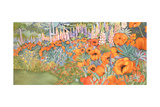 Poppy Border Giclee Print by Lillian Delevoryas