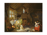 Interior of a Farmhouse Giclee Print by Hendrik Martensz Sorgh
