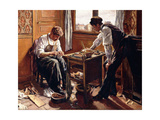 Shoemakers, the Two Givort Brothers, 1884 Giclee Print by Maximilien Luce