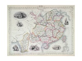 Map of China and Birmah, 1851 Giclee Print by John Rapkin