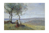 Souvenir of St. Jean De Luz, 1872 Giclee Print by Jean-Baptiste-Camille Corot