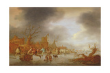 A Winter Landscape, 1647 Giclee Print by Isack van Ostade