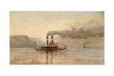 The City of Saint Paul, Dubuque, C.1866 Giclee Print by Alfred Thompson Bricher