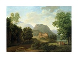 Tuscan Landscape, 1827 Giclee Print by Jean Victor Bertin