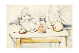 Ginger Jar and Fruit on a Table, 1888-90 Giclee Print by Paul Cézanne