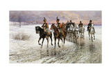 Napoleon Retreating from Moscow Giclee Print by Jan Van Chelminski