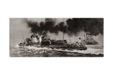 Unidentified WW1 Naval Engagement Giclee Print by Graham Coton