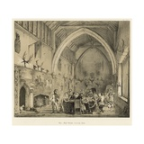 Hall, Moat House, Ightham, Kent Giclee Print by Joseph Nash