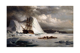 Icebound Ship Giclee Print by William Bradford