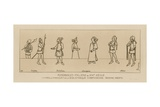 Italian Characters from the 14th Century Giclee-trykk av Raphael Jacquemin
