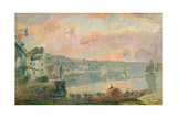 The Ferry at La Bouille Giclee Print by Albert-Charles Lebourg