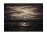 Twilight on Lake Leman in Bon Port, 1876 Impression giclée par Gustave Courbet