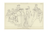 Hesoid and the Muses Giclee Print by John Flaxman