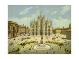 Milan, Piazza Del Duomo Giclee Print