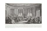 Le concert Reproduction procédé giclée par Augustin De Saint-aubin