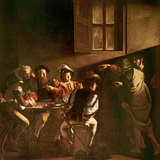 The Calling of St. Matthew, C.1598-1601 Giclée-tryk af  Caravaggio