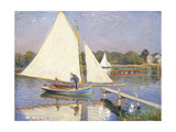 Boaters at Argenteuil, 1874 Gicléetryck av Claude Monet