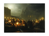 The Book Fair, 1852 Giclee Print by Petrus van Schendel