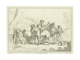 Peasants Resting on their Way to Market Giclee Print by Johannes Lingelbach