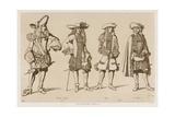 French Gentlemen of the Seventeenth Century Giclee-trykk av Raphael Jacquemin