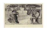 Sappho Giclee Print by Sir Lawrence Alma-Tadema