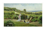 In the Garden, 1903 Giclee Print by Thomas James Lloyd