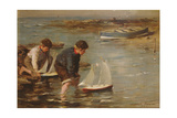 Starting the Race, 1902 Giclee Print by William Marshall Brown