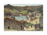 The Village of Collioure with a View of the Port Giclee Print by Henri Martin